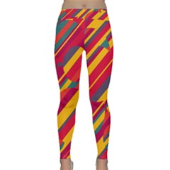 Colorful Hot Pattern Yoga Leggings  by Valentinaart