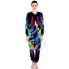 Colorful Abstract Art Onepiece Jumpsuit (ladies)  by Valentinaart