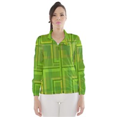 Green Pattern Wind Breaker (women) by Valentinaart