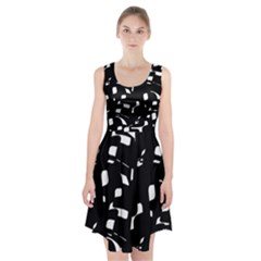 Black And White Pattern Racerback Midi Dress by Valentinaart