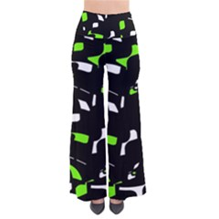 Green, Black And White Pattern Pants by Valentinaart