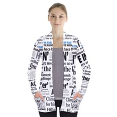 Hillary 2016 Historic Headlines Women s Open Front Pockets Cardigan(p194) by blueamerica
