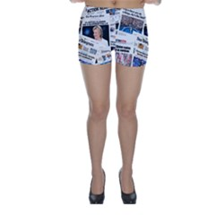 Hillary 2016 Historic Newspaper Collage Skinny Shorts by blueamerica