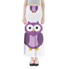 Purple Transparetn Owl Maxi Skirts by Valentinaart