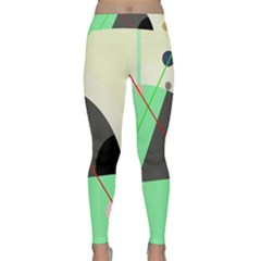 Decorative Abstract Design Yoga Leggings  by Valentinaart