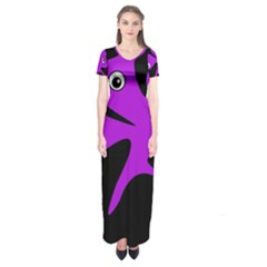 Purple Amoeba Short Sleeve Maxi Dress by Valentinaart