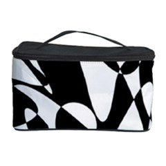 Black And White Elegant Pattern Cosmetic Storage Case by Valentinaart