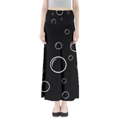 Black And White Bubbles Maxi Skirts by Valentinaart