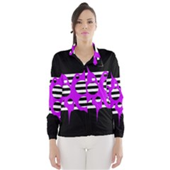 Purple Abstraction Wind Breaker (women)