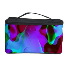 Retro Abstract Colorsplash Cosmetic Storage Case by tjustleft