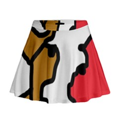 Artistic Cow Mini Flare Skirt by Valentinaart