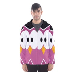 Pink Owl Hooded Wind Breaker (men) by Valentinaart