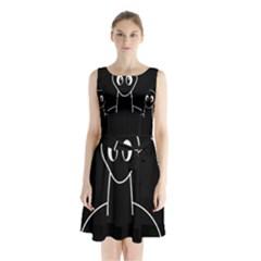 Dinosaur  Sleeveless Waist Tie Dress by Valentinaart