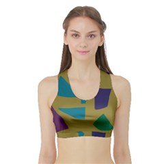 Colorful Abstraction Sports Bra With Border by Valentinaart