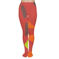 Red Abstraction Women s Tights by Valentinaart