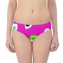 Pink Abstract Pattern Hipster Bikini Bottoms by Valentinaart