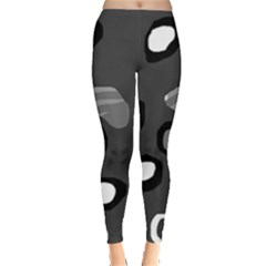 Gray Abstract Pattern Leggings  by Valentinaart