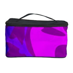 Purple, Pink And Magenta Amoeba Abstraction Cosmetic Storage Case by Valentinaart
