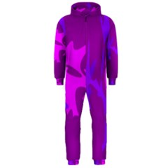 Purple, Pink And Magenta Amoeba Abstraction Hooded Jumpsuit (men)  by Valentinaart