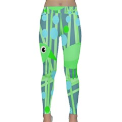 Green Bird Yoga Leggings