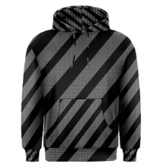 Black And Gray Lines Men s Pullover Hoodie by Valentinaart