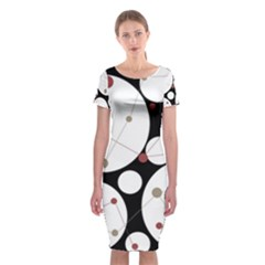 Decorative Circles Classic Short Sleeve Midi Dress by Valentinaart