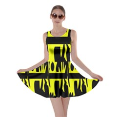 Yellow Abstract Pattern Skater Dress by Valentinaart