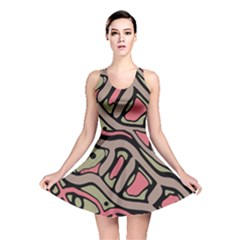 Decorative Abstract Art Reversible Skater Dress by Valentinaart