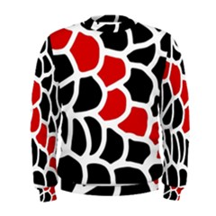 Red, Black And White Abstraction Men s Sweatshirt by Valentinaart