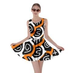Orange Playful Design Skater Dress by Valentinaart