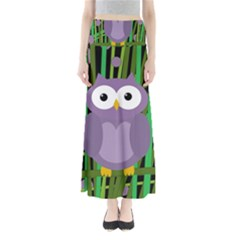 Purple Owl Maxi Skirts by Valentinaart