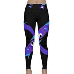 Blue Fishes Yoga Leggings