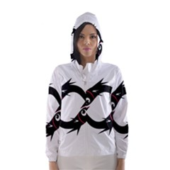 Black Fishes Hooded Wind Breaker (women)