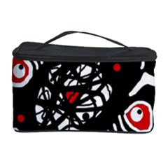 Abstract Fishes Cosmetic Storage Case by Valentinaart