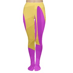 Yellow And Magenta Landscape Women s Tights by Valentinaart