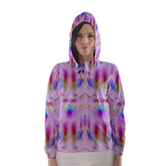 Rainbows And Leaf In The Moonshine Hooded Wind Breaker (women)