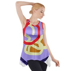 Abstract Circle Side Drop Tank Tunic by Valentinaart