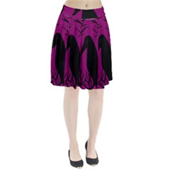 Halloween Raven   Magenta Pleated Skirt by Valentinaart
