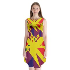 Hot Abstraction Sleeveless Chiffon Dress   by Valentinaart