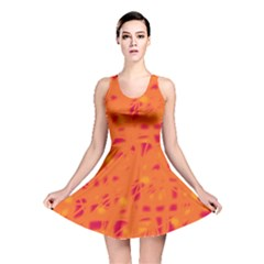 Orange Reversible Skater Dress by Valentinaart