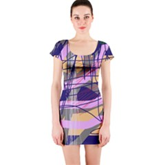 Abstract High Art By Moma Short Sleeve Bodycon Dress by Valentinaart