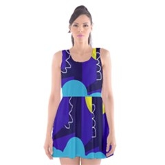 Walking On The Clouds  Scoop Neck Skater Dress by Valentinaart