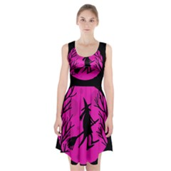 Halloween Witch   Pink Moon Racerback Midi Dress by Valentinaart