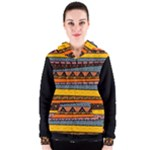 Orange Yellow and Blue Tribal  Women s Zipper Hoodie
