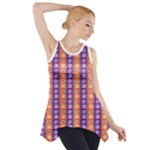 Orange and Purple Tribal Stripe Pattern Side Drop Tank Tunic