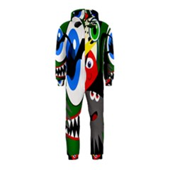 Halloween Monsters Hooded Jumpsuit (kids) by Valentinaart