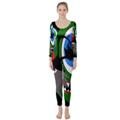 Halloween Monsters Long Sleeve Catsuit by Valentinaart