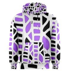 Purple Abstract Decor Men s Pullover Hoodie by Valentinaart
