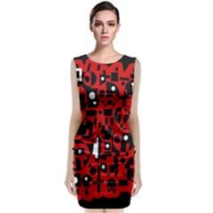 Red Classic Sleeveless Midi Dress by Valentinaart