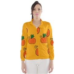 Thanksgiving Pumpkins Pattern Wind Breaker (women)